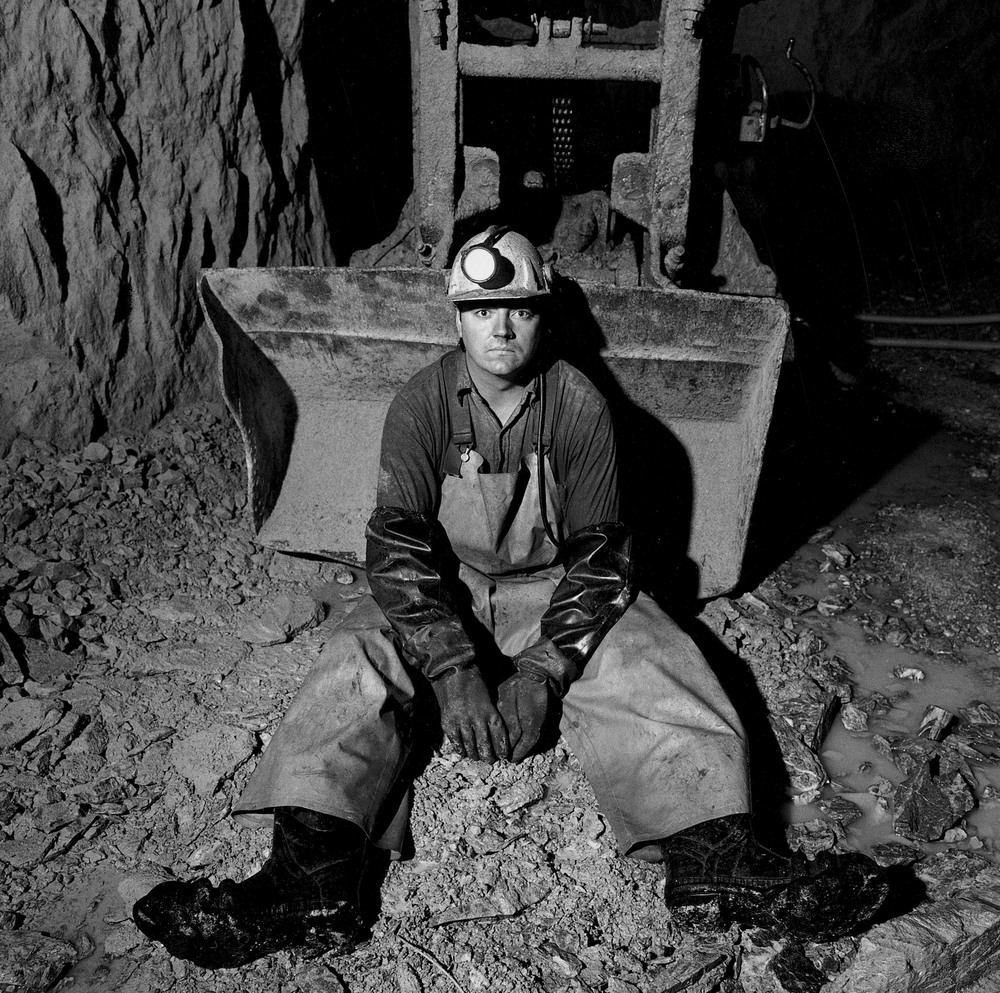 Steve Sheldon at the Kerr Mine in Virginiatown, Ontario, Canada.  ©Louie Palu/ZUMAPRESS.com