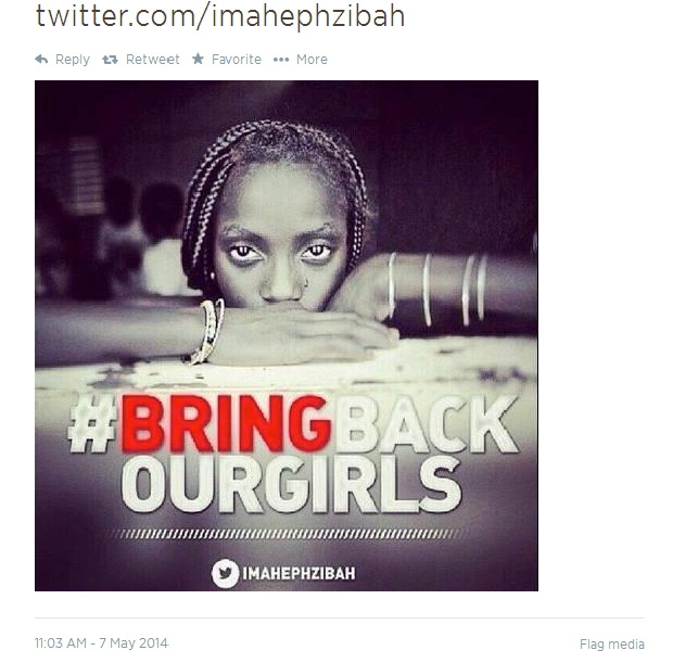 Vitale's image that was misappropriated by the  #bringbackourgirls  campaign.