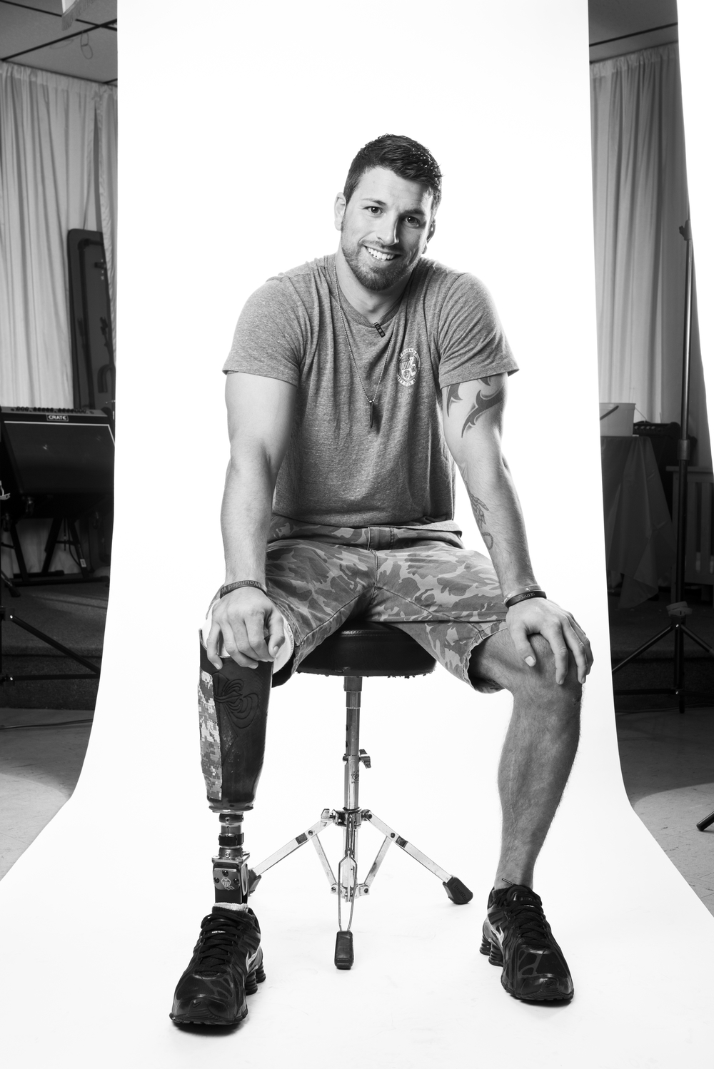 Army Sergeant Brian Taylor Urruela served as an Infantryman during Operation Iraqi Freedom, during where he lost his leg. He was enlisted from Aug. 2004 to Feb. 2011. He now runs a non-profit organization called VetSports. 2013 © Stacy L. Pearsall