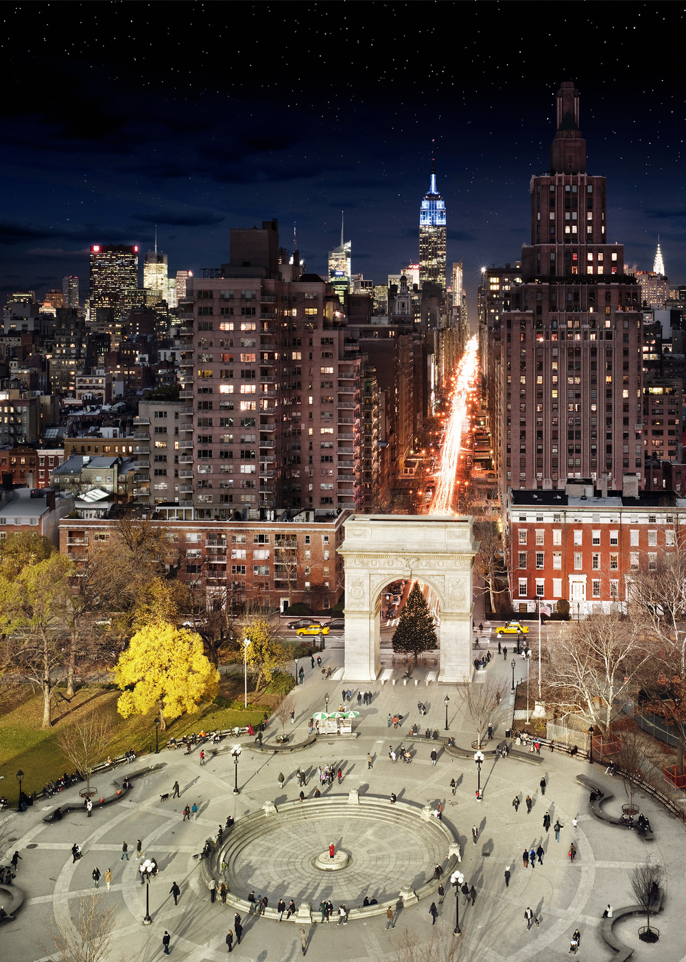 Day to Night: Washington Square Park © Stephen Wilkes
