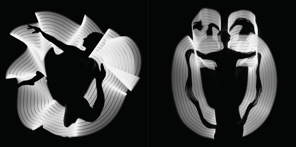 Left: Light Study #1034, Lauren Alzamora, photographed in New York City, April 2006. Right: Light Study # 1040, Kristin and Amy, photographed in New York City, January 2008.  © Howard Schatz and Beverly Ornstein