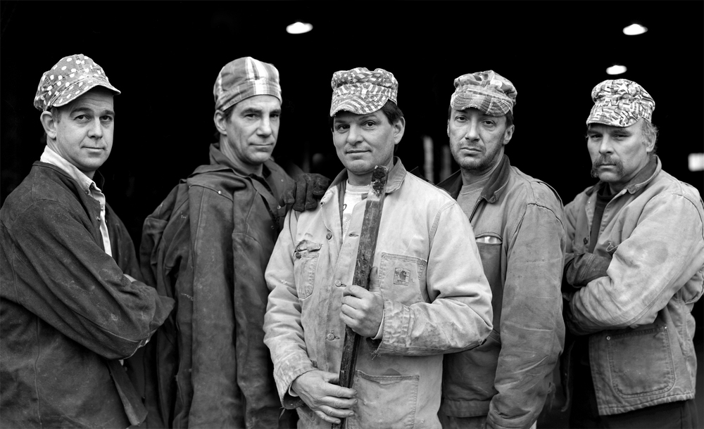 Working Men. Part of a series of images of a Boiler Shop in Syracuse, NY.    ©   Alicia Hansen