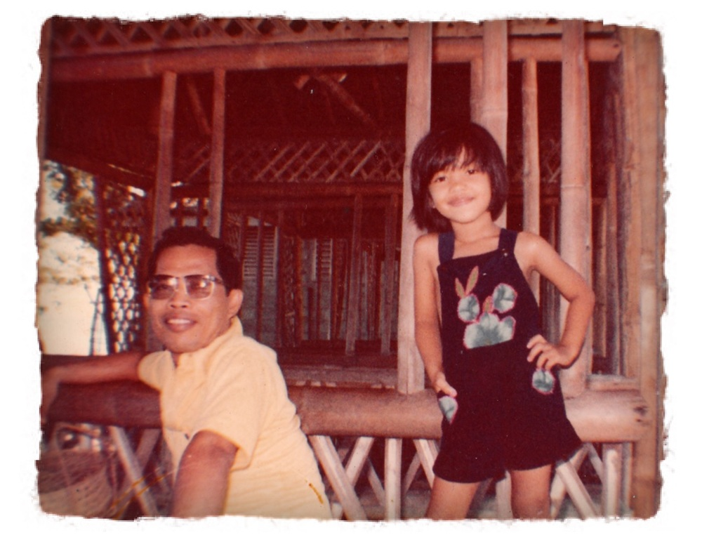 Marvi and her dad Luis in the Philippines in the 1980's Photo: Courtesy Marvi Lacar