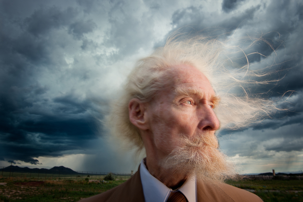 Donald Blake, a gentle soul, caught in a windstorm. 2010 © Joe McNally