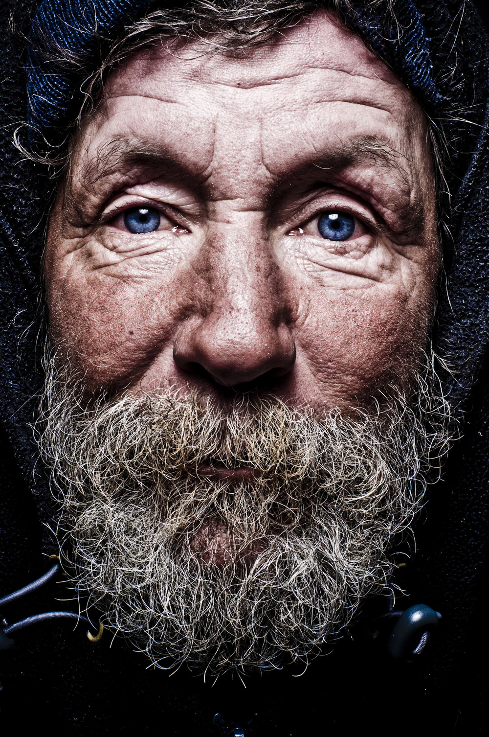 Portrait of a homeless man in Colorado © Rob Hammer