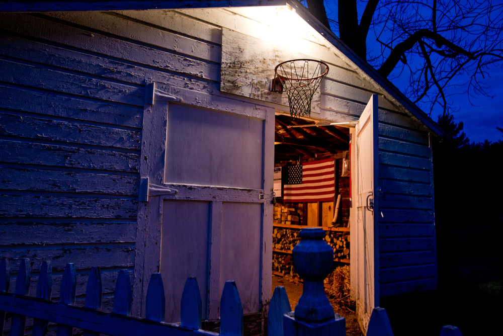 An old basketball hoop in Averill Park, New York  © Rob Hammer