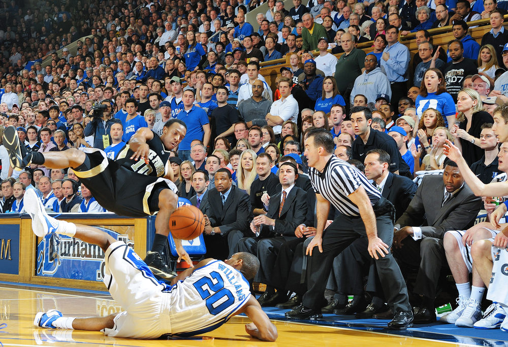 NCAA College Basketball; Wake Forest v. Duke. © Bill Frakes/Sports Illustrated