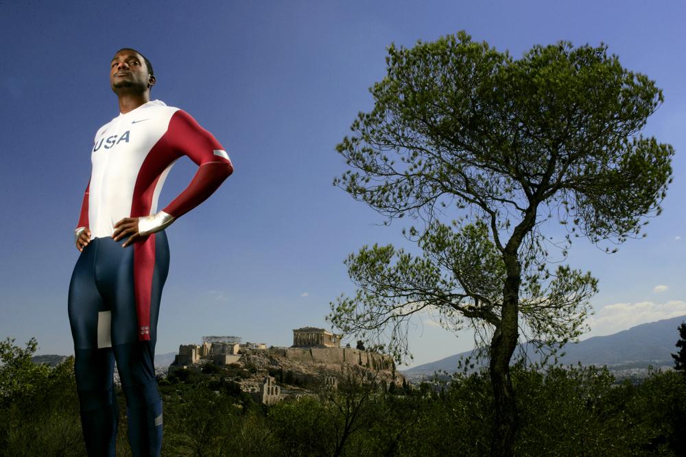 US sprinter Justin Gatlin, Athens, Greece.© Bill Frakes/Sports Illustrated