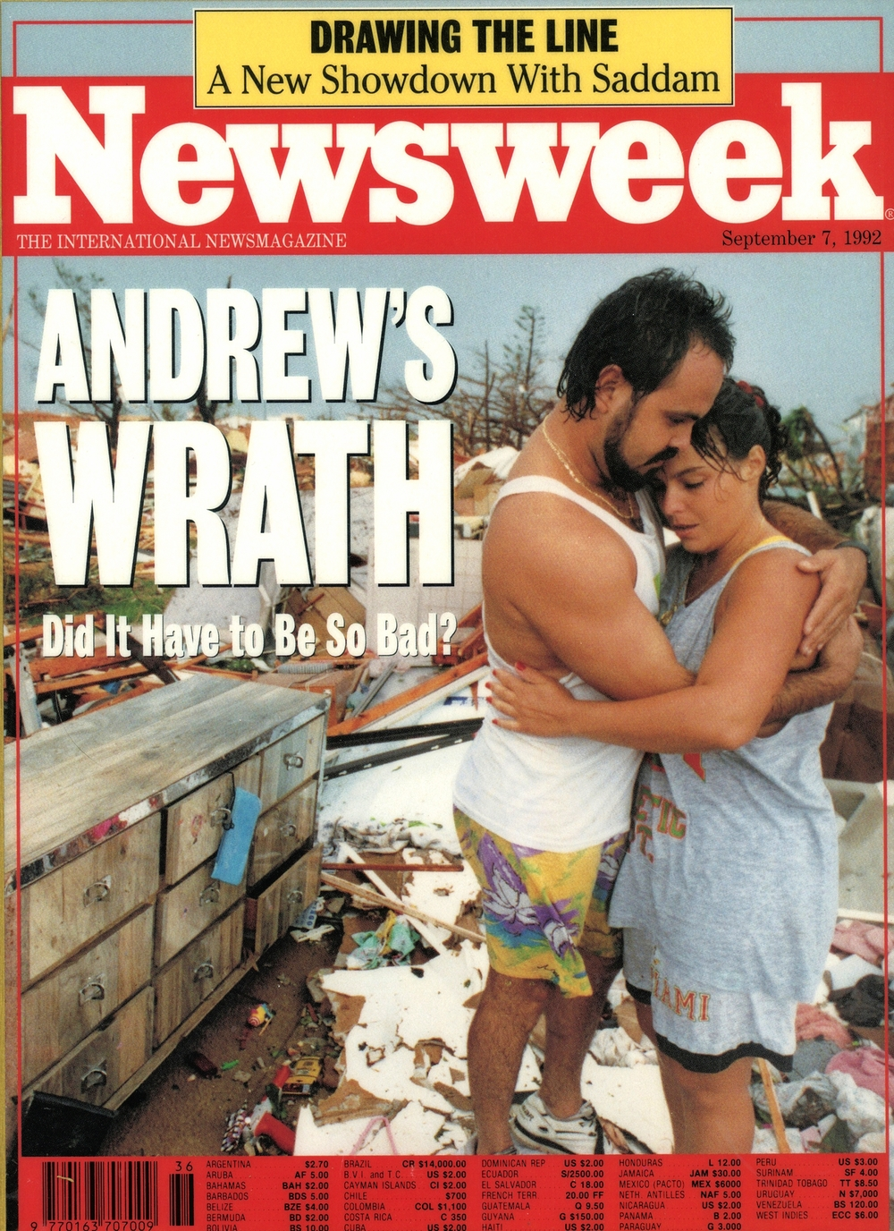 Hurricane Andrew cover of Newsweek.