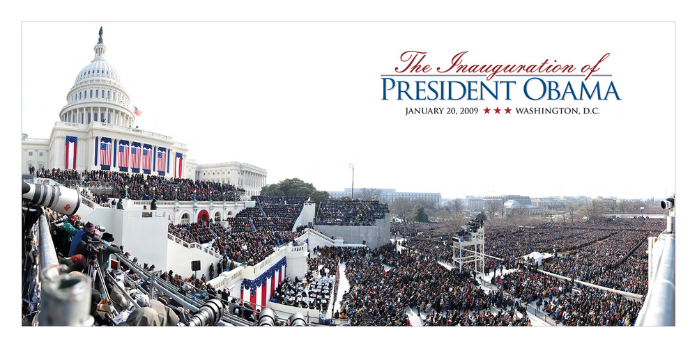 GigaPan image of President Obama's inauguration in 2009. © David Bergman