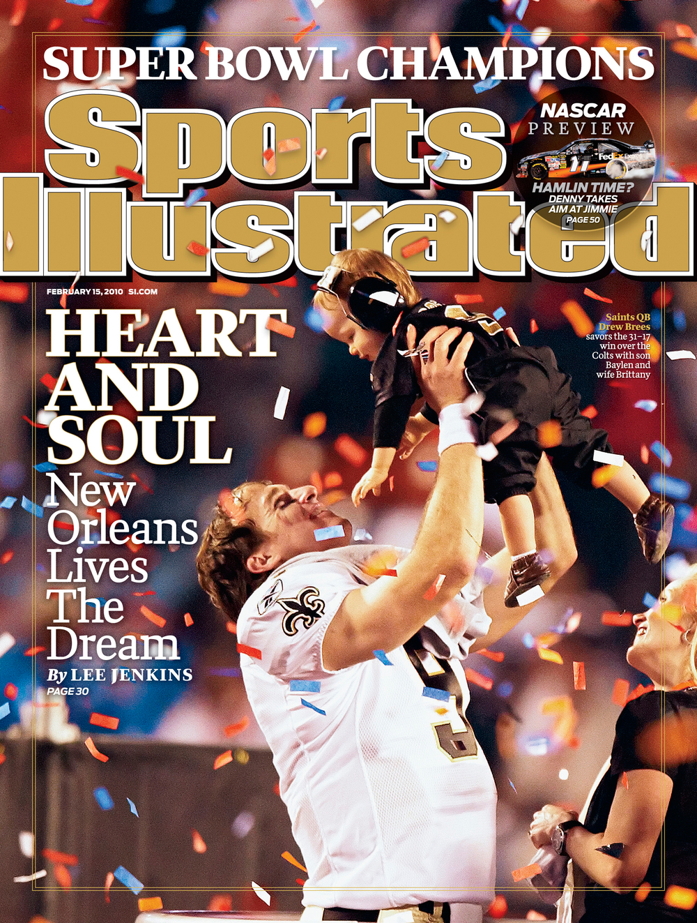 Super Bowl cover of SI. © David Bergman for Sports Illustrated