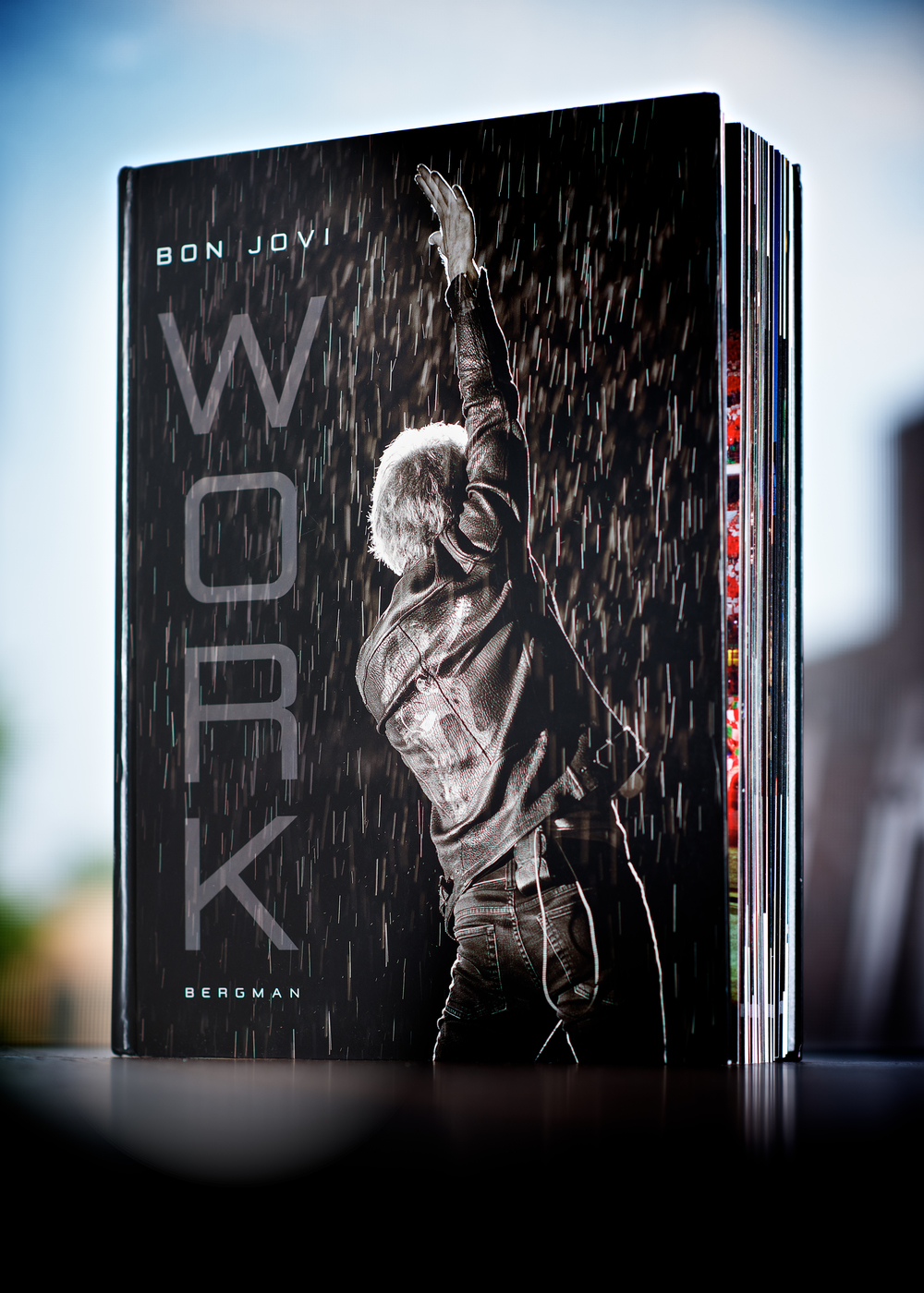 "Bergman's new Jon Bon Jovi book, ""Work."" © David Bergman"