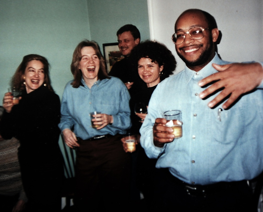 Left to right: Sarah Tanguy, Nancy Andrews, Elana Winsberg, Michel du Cille. Circa early 1990's.