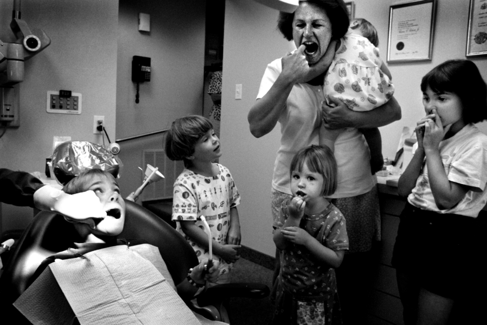 It is those little moments that I cherish, like a trip to the dentist with these kids from Chernobyl visiting the U.S. with a suburban Virginia family. © Nancy Andrews/The Washington Post
