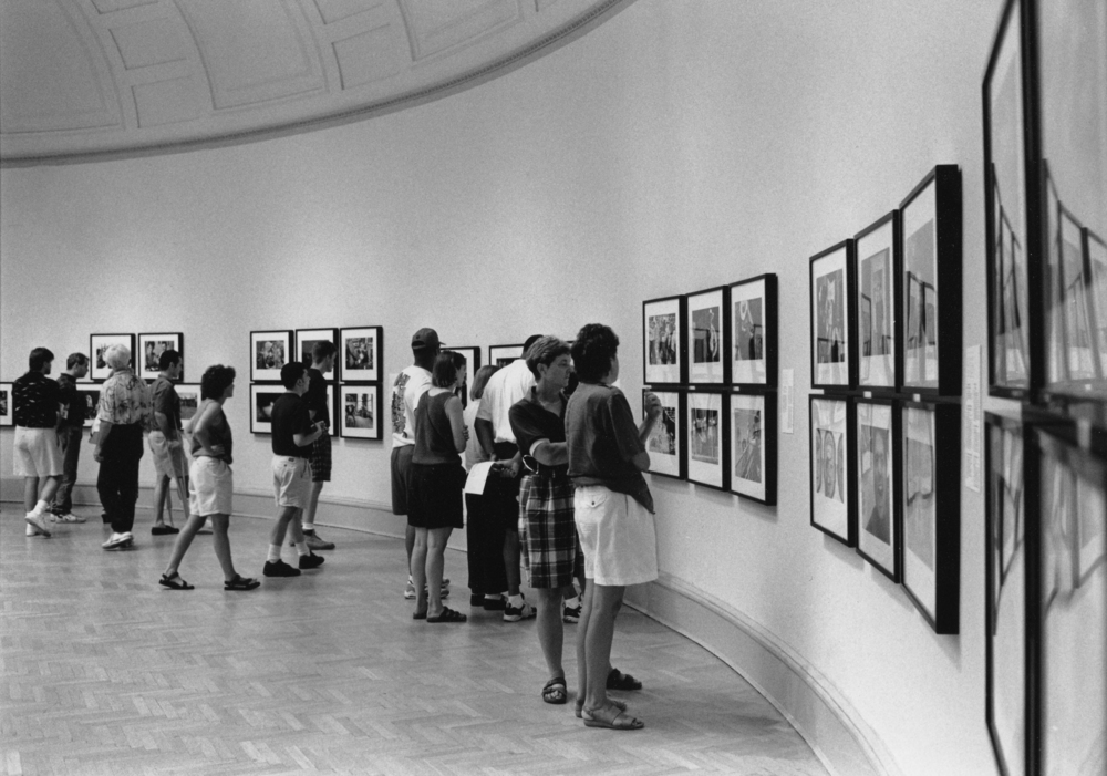 "It was crazy in 1994. Pictures of ""ordinary"" gay people at the Corcoran Gallery of Art drew huge crowds, and the show's run was extended. © Nancy Andrews"