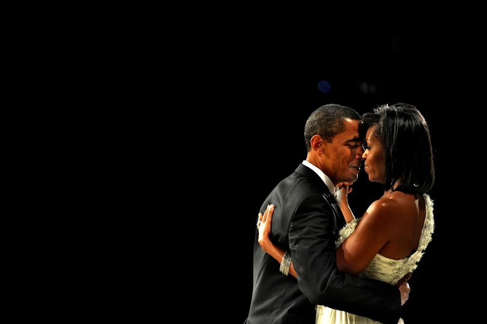 President Barack Obama and First Lady Michelle Obama attend the Neighborhood Inaugural Ball at the Washington Convention Center in Washington DC.   © Mary F. Calvert/ ZUMAPRESS.com