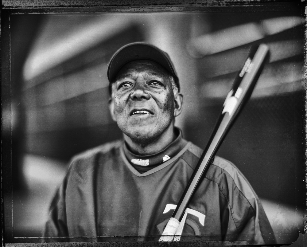 Future Hall of Famer Tony Oliva, Spring Training, 2005, shot with the Speed Graphic. © 2015 David Burnett/Contact Press Images