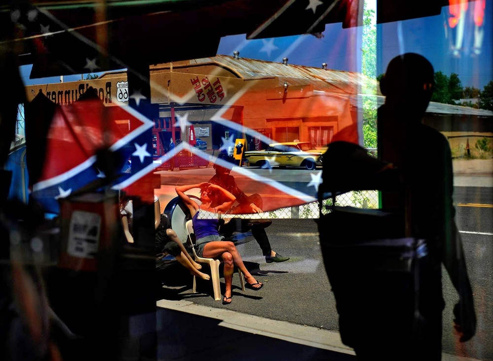 """Racial wallpaper"" (thank Jon Stewart for the term) has been hanging on flag poles and in windows and in gift shops for too long. Well America, it looks like a part of your very ugly decor is going to get a makeover in some places. About time. © 2015 Michael S. Williamson/The Washington Post"