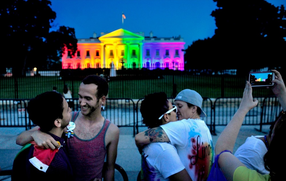The White House was lit up with the colors of the gay pride flag tonight to honor the historic decision today. It was so wonderful to see all the love. © 2015 Michael S. Williamson/The Washington Post