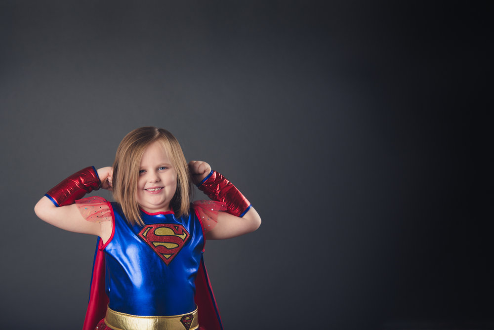 She wore that Super Woman costume to her last chemo treatment.  Her mom said that she had many, many costumes she wore during the course of her treatment, but this was the favorite.