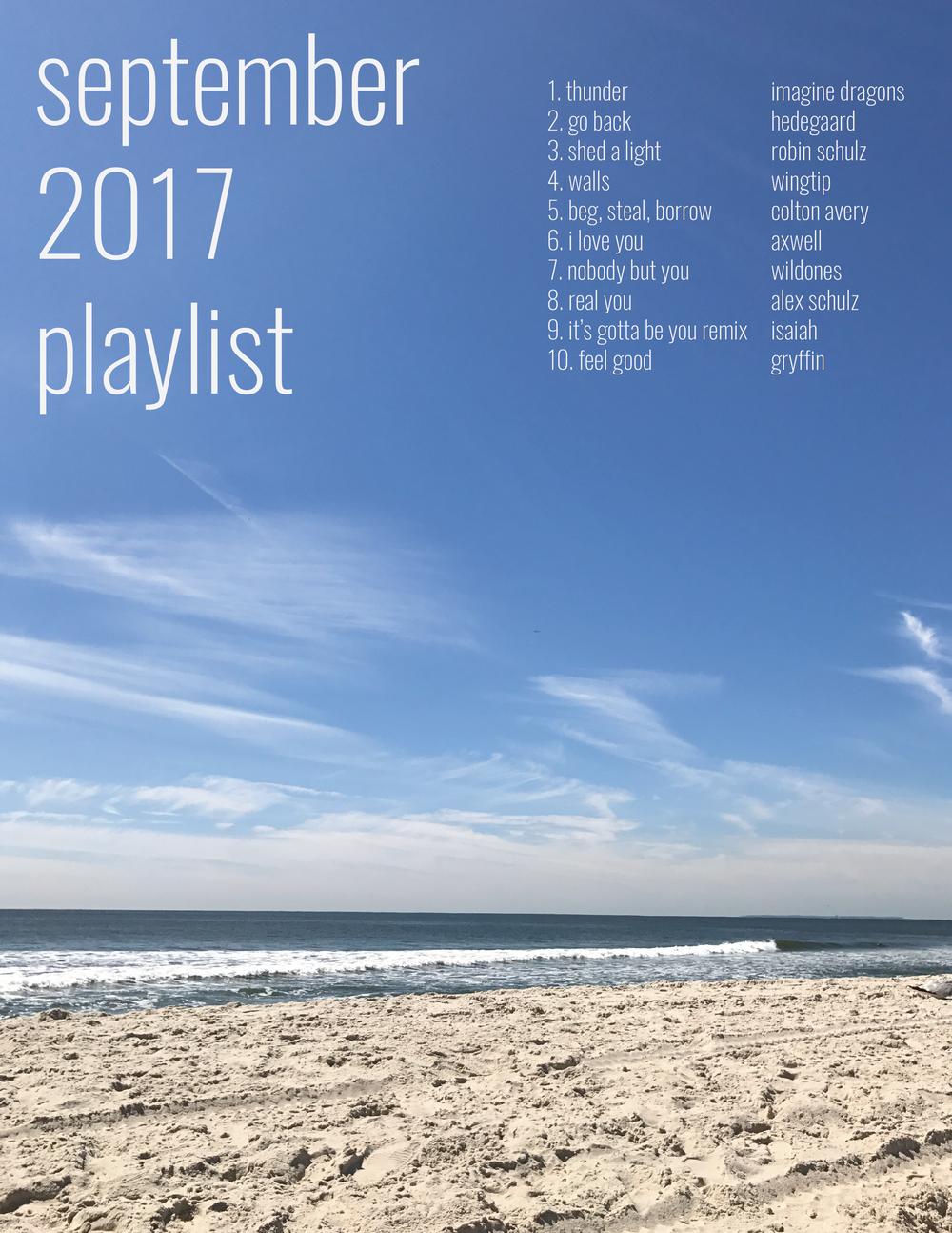 september 2017 playlist  — elizabeth carberry