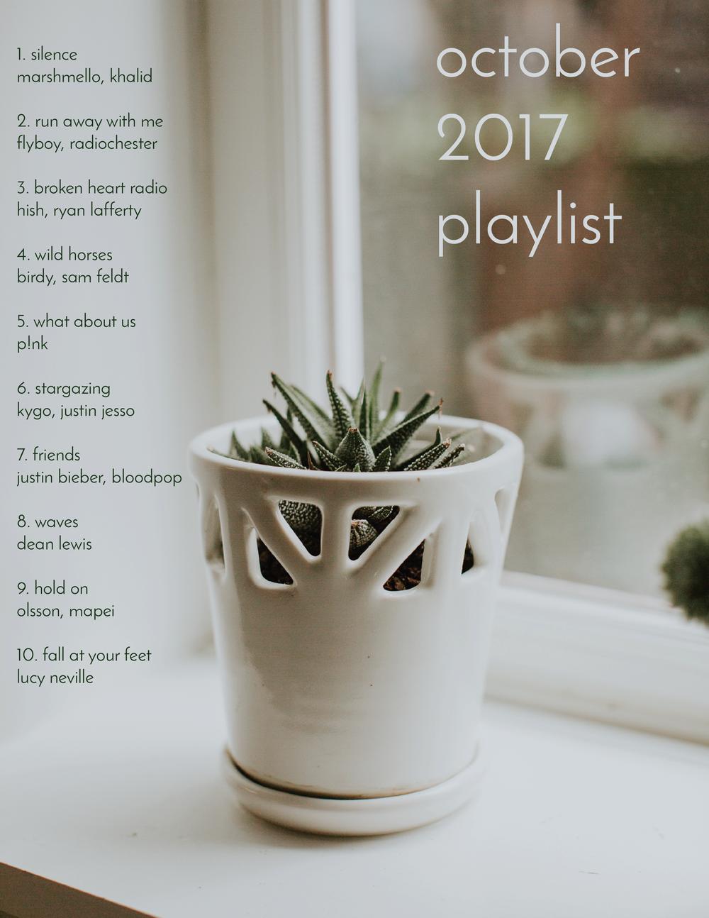 october 2017 playlist on spotify