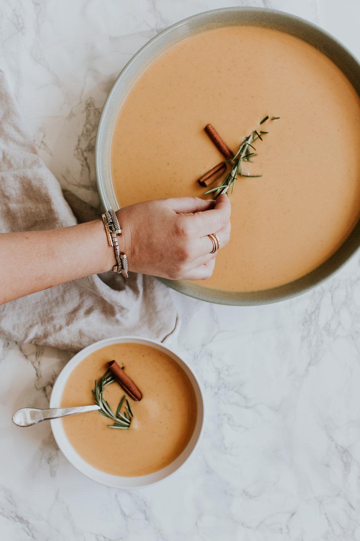 recipe: fall pumpkin soup. -