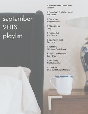 september 2018 playlist  — elizabeth carberry