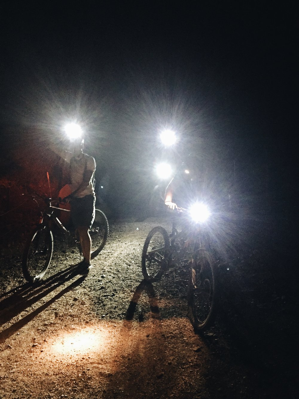 night ride mountain bikes