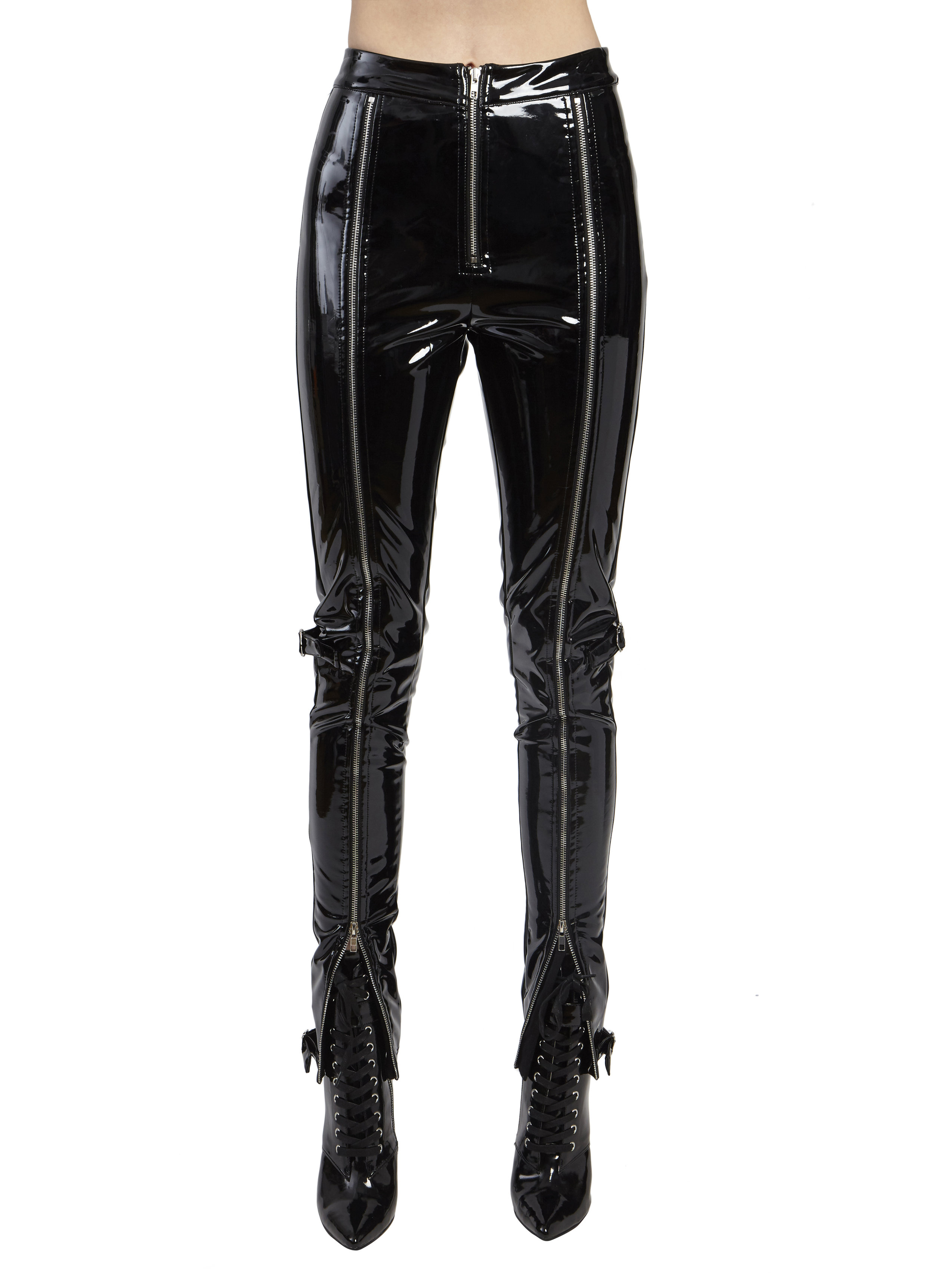PATENT ZIPPER LEATHER PANTS by Danielle Guizio, available on danielleguiziony.com for $210 Kylie Jenner Pants SIMILAR PRODUCT