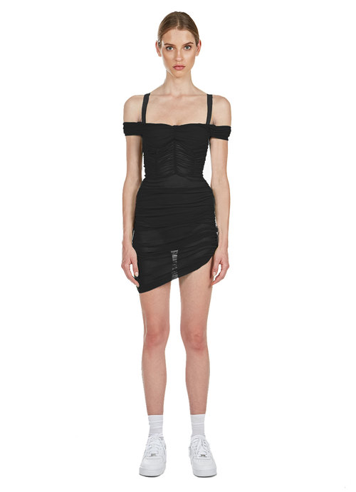 Lynx Ruched Dress Danielle Guizio