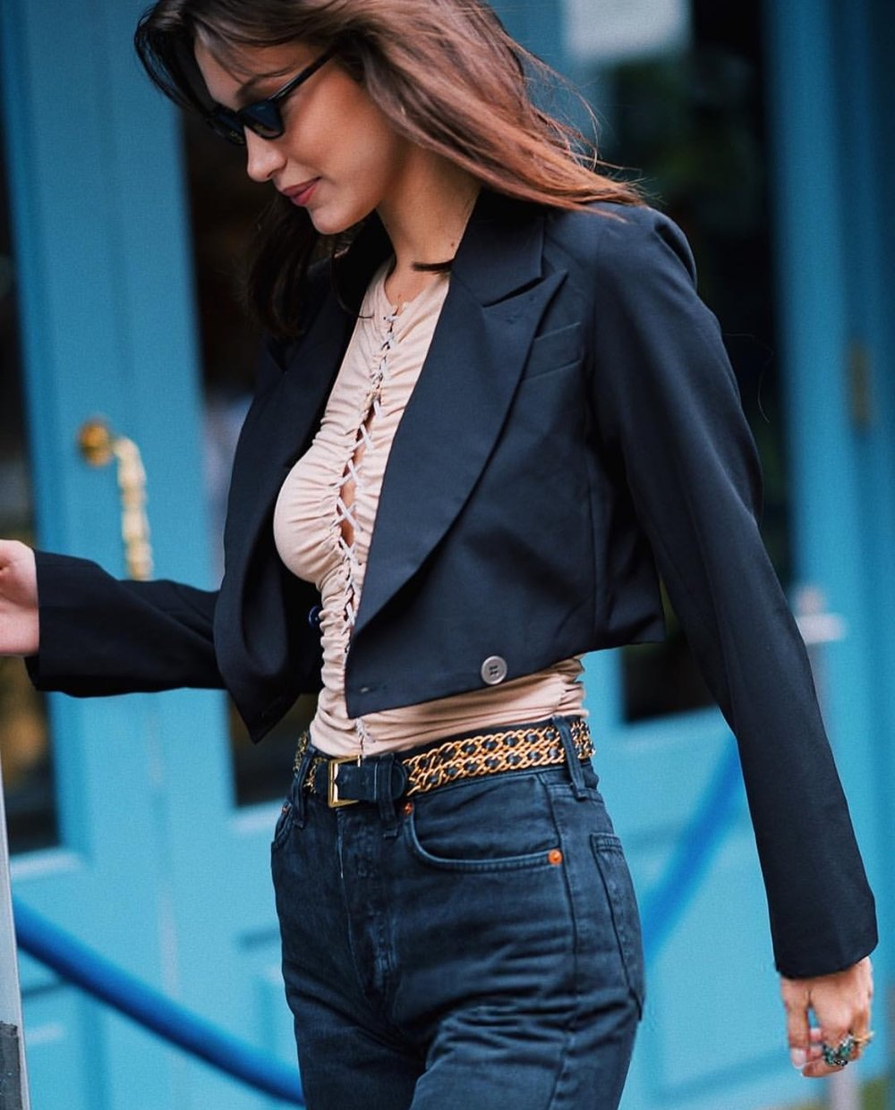 Blazer Top on Bella Hadid.jpg
