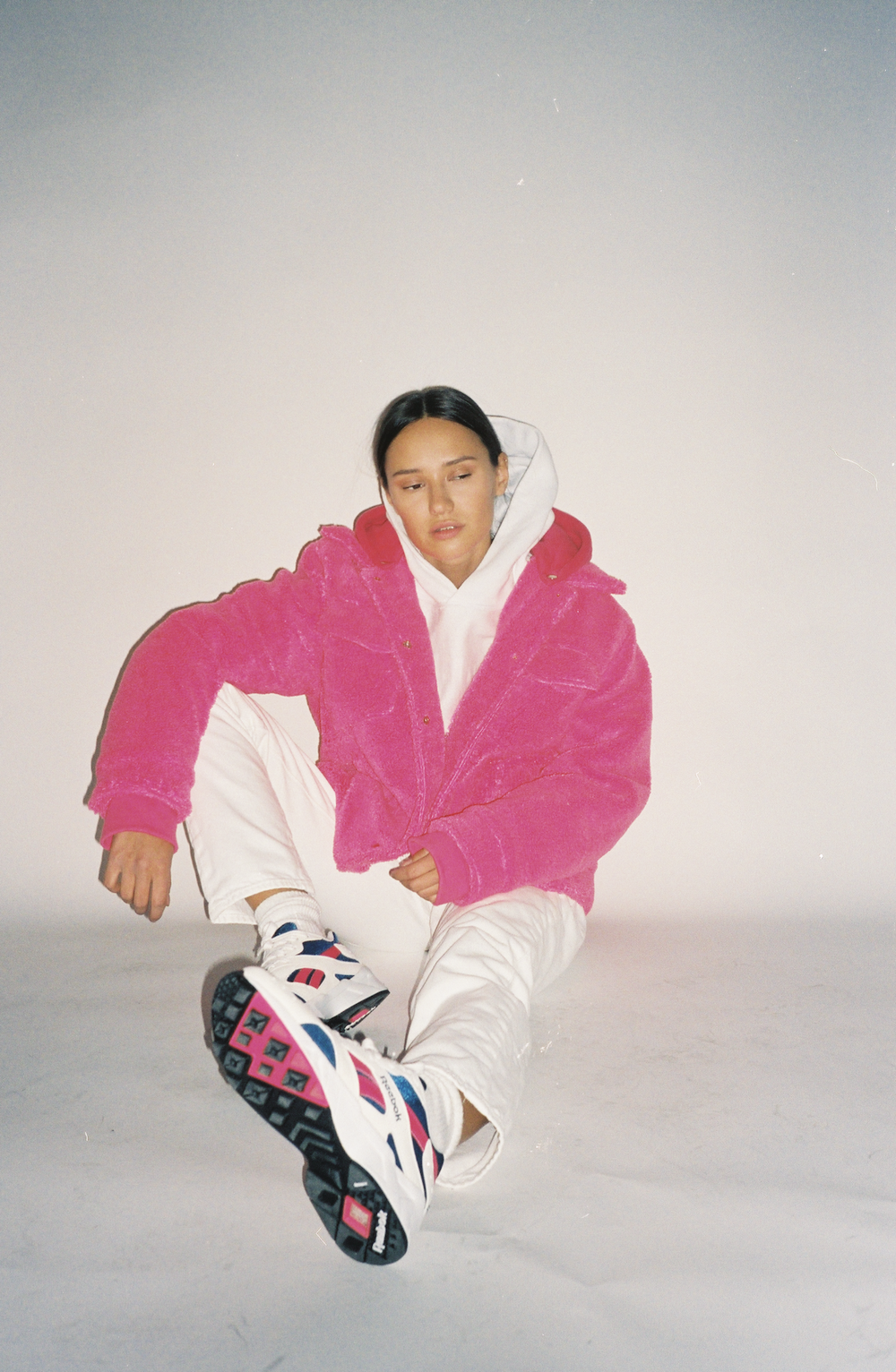Electric Pink Oversized Sherpa Jacket.png