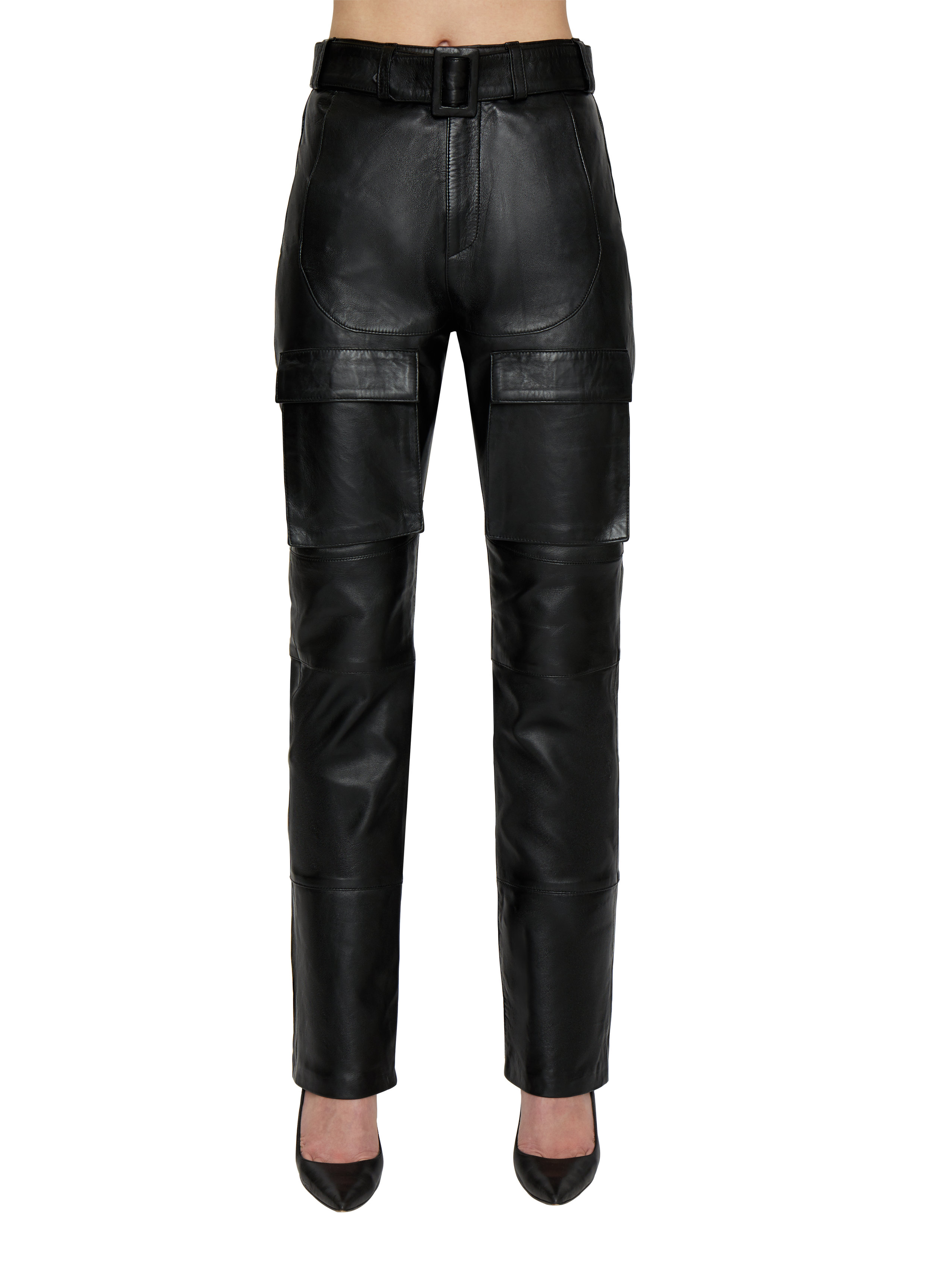 BELTED LEATHER CARGO PANTS by Danielle Guizio, available on danielleguiziony.com for $890 Kylie Jenner Pants SIMILAR PRODUCT