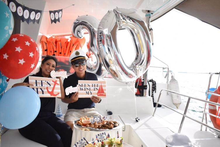 Yacht Rental Singapore Birthday Party