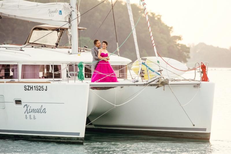 yacht rental singapore photoshoot