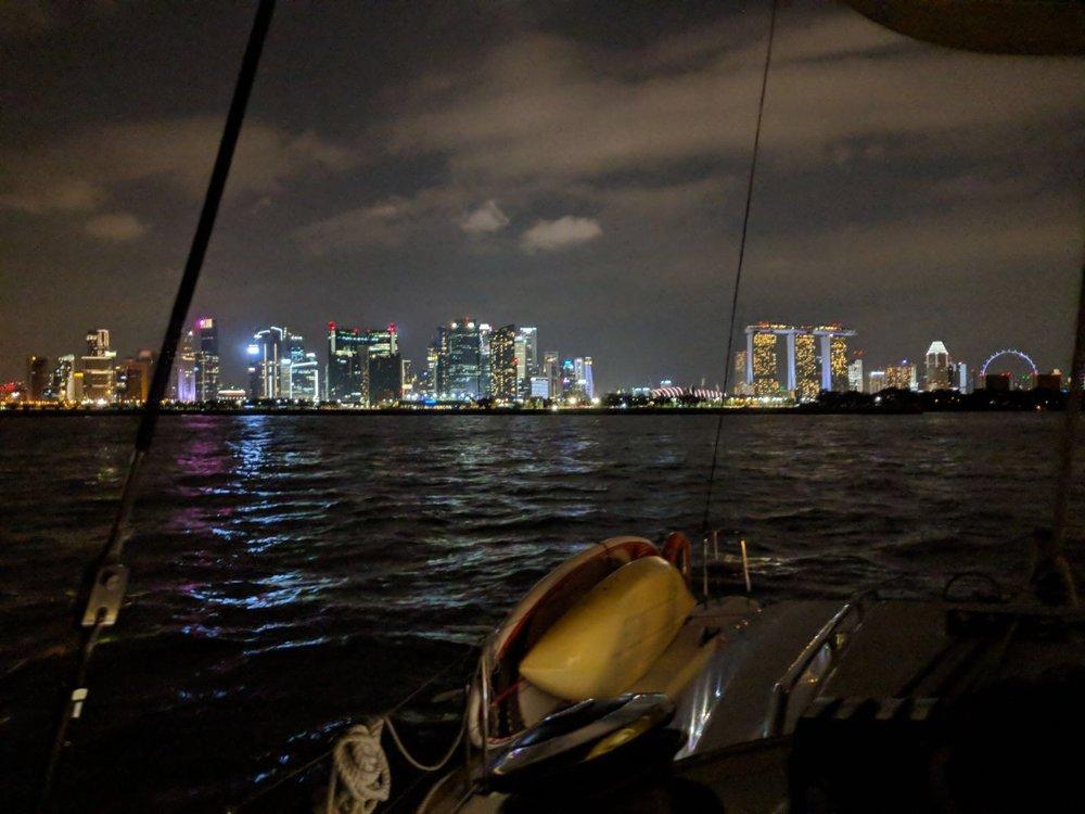 ximula sail yacht charter singapore sunset