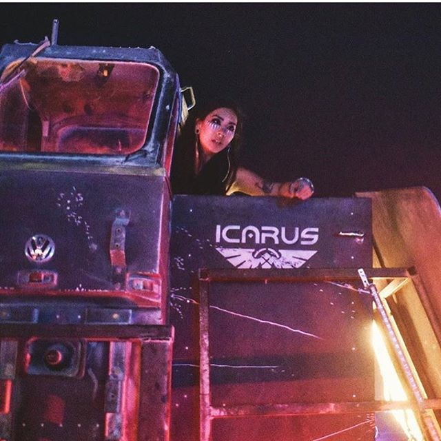 Yelling something from ICARUS // repost from @icarusartcar // photo by Shea // 🖤🚀🖤