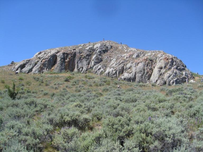 July 2010 - President's Trip - Oldest Rock in Oregon