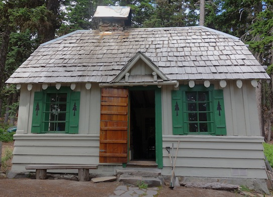 Later, we took another short hike past some of the cottages which can be rented near Cloud Cap. Isn't this one charming?