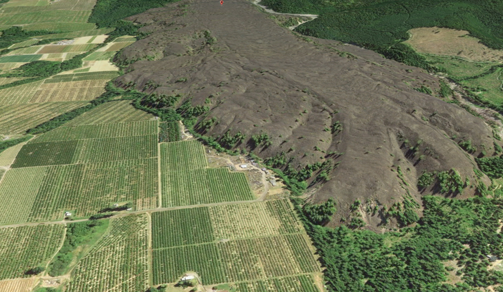 Parkdale Lava Flow - Google Earth Image