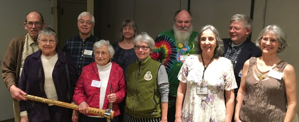 Photo of GSOC Past Presidents at 81st Annual GSOC Banquet From left to right:Richard Bartels,Beverly Vogt,Larry Purchase,Evelyn Pratt,Jane Walpole,Carol Hasenberg,Rik Smoody,Sheila Alfsen,Clay Kelleher,Janet Rasmussen.