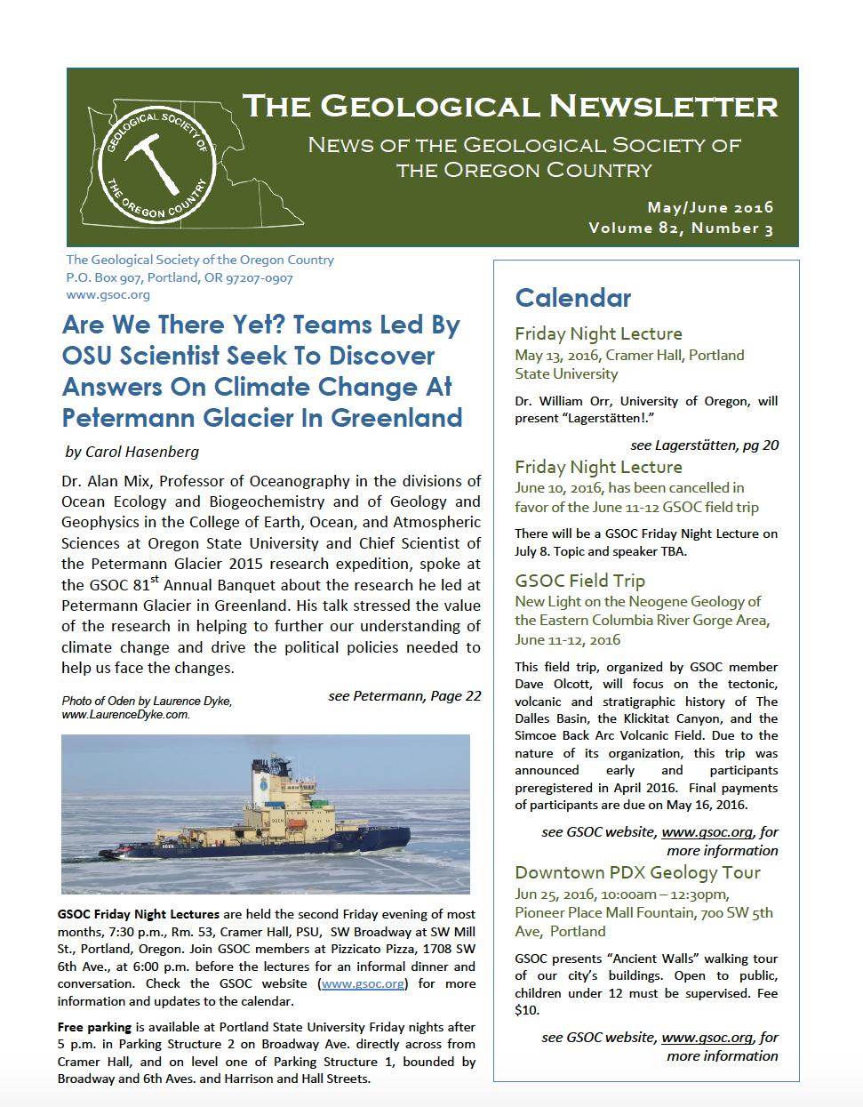 current newsletter (Printable Version).