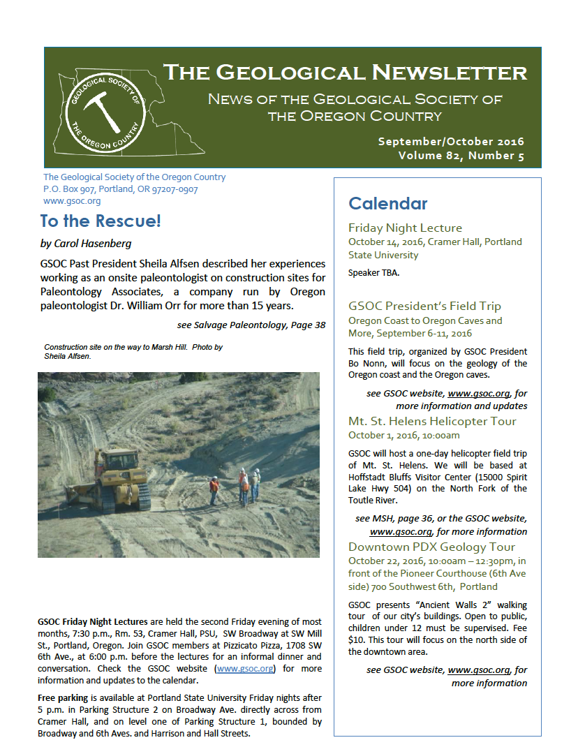current newsletter (Printable Version).