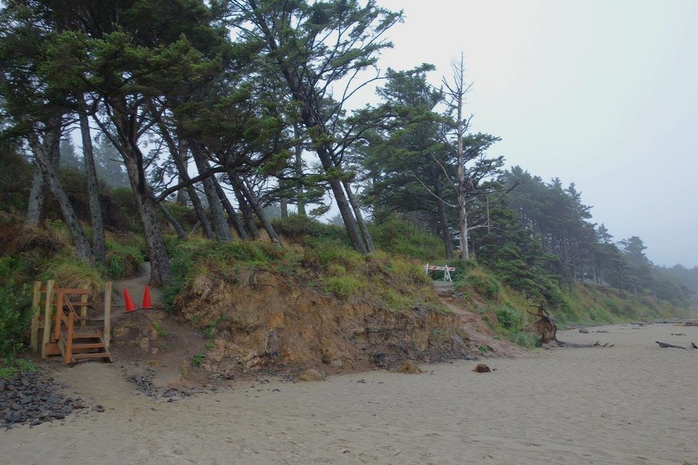 Landslide that happened last November at Arcadia Beach on the northern Oregon Coast.