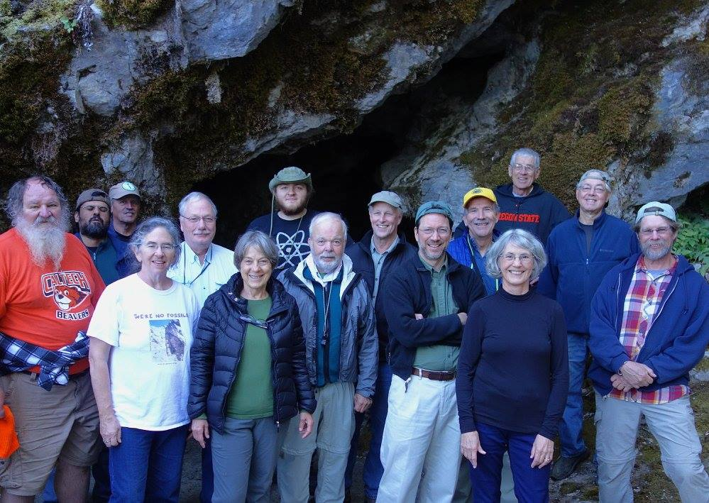 Most of the group, after touring the Oregon Caves. Sheila stayed at the lodge to give us a program afterwards.