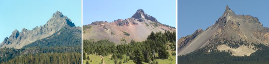 Three Finger Jack, Mt. Washington, and Mt. Thielsen