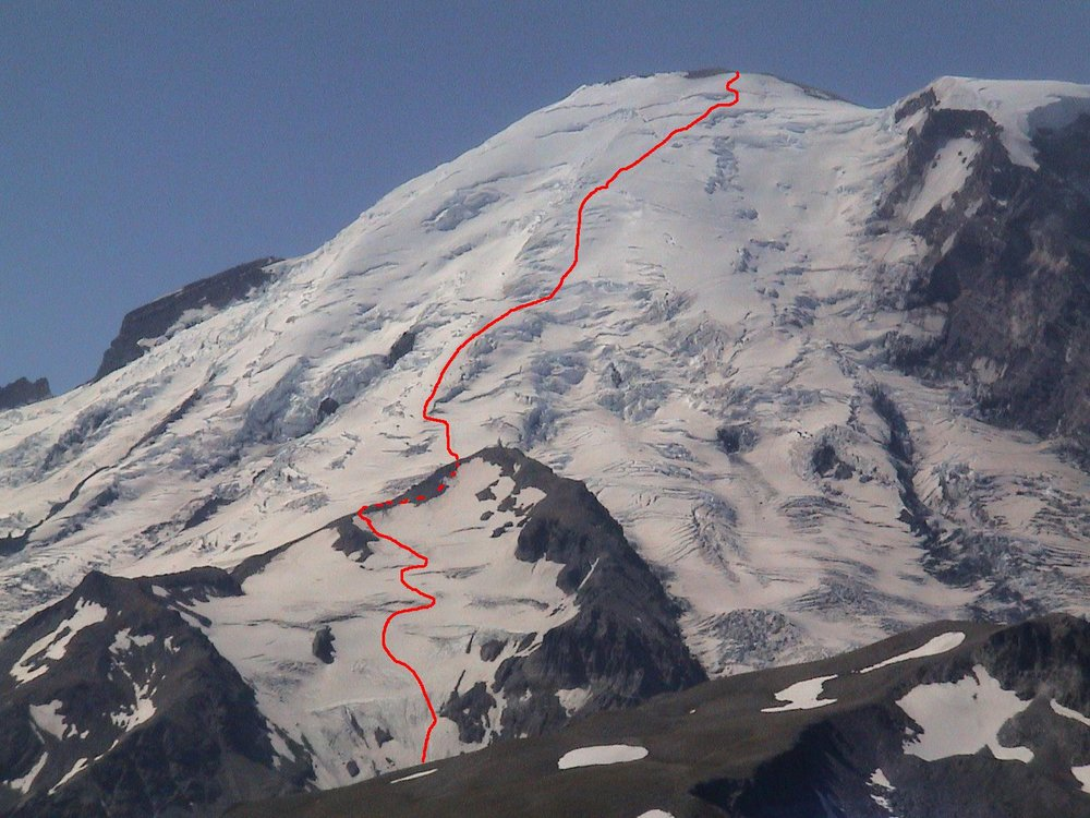 Nonn's favorite route is up the Emmons Glacier