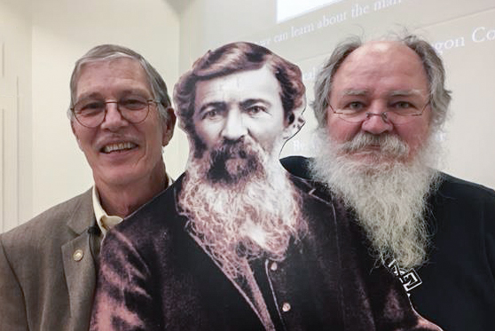 Thomas Condon with his pals Dr. Bill Orr (left) and GSOC President Rik Smoody (right).