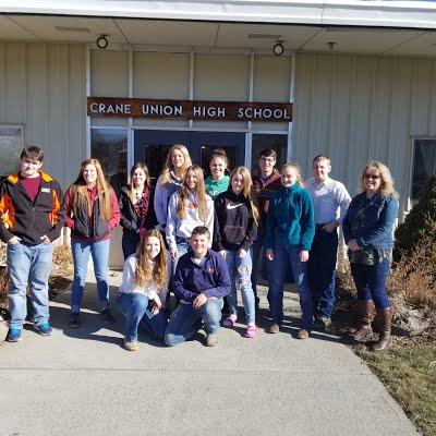Photo:  Harney Rockers, Crane Union High School Physical Science Class.